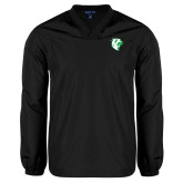 V Neck Black Raglan Windshirt-Athletic Mark