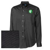 Cutter & Buck Black Nailshead Long Sleeve Shirt-Bear in Circle