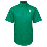 Kelly Green Twill Button Down Short Sleeve-Athletic Mark