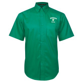Kelly Green Twill Button Down Short Sleeve-Soccer