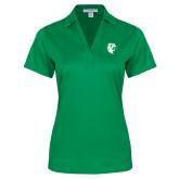 Ladies Kelly Green Performance Fine Jacquard Polo-Athletic Mark