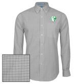 Mens Charcoal Plaid Pattern Long Sleeve Shirt-Athletic Mark