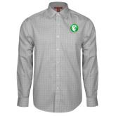 Red House Grey Plaid Long Sleeve Shirt-Bear in Circle
