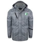 Grey Brushstroke Print Insulated Jacket-Athletic Mark
