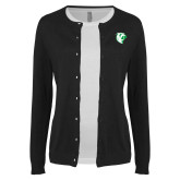 Ladies Black Cardigan-Athletic Mark