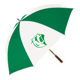 64 Inch Kelly Green/White Umbrella-Athletic Mark