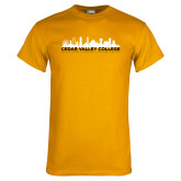 Gold T Shirt-Dallas Skyline
