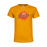 Youth Gold T Shirt-Full Color Athletics Mark