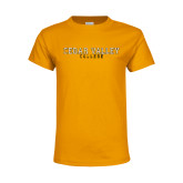 Youth Gold T Shirt-Cedar Valley College Flat