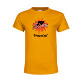 Youth Gold T Shirt-Volleyball