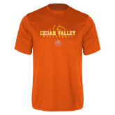 Performance Orange Tee-Volleyball Abstract