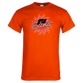 Orange T Shirt-Flat Color Athletics Mark