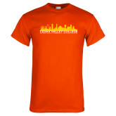 Orange T Shirt-Dallas Skyline