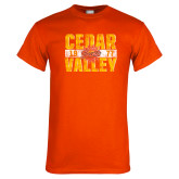 Orange T Shirt-Block Type Distressed