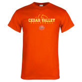 Orange T Shirt-Volleyball Abstract