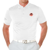 Callaway Opti Vent White Polo-Flat Color Athletics Mark