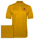 Gold Dry Mesh Polo-Flat Color Athletics Mark
