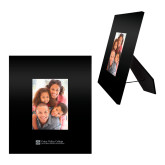 Black Metal 5 x 7 Photo Frame-Primary Mark - Horizontal Engraved