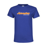 Youth Royal T Shirt-Script Harvesters
