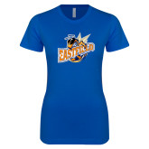 Next Level Ladies SoftStyle Junior Fitted Royal Tee-Eastfield Wave