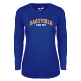 Ladies Syntrel Performance Royal Longsleeve Shirt-Arched
