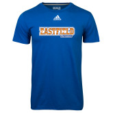 Adidas Climalite Royal Ultimate Performance Tee-Athletic Wordmark