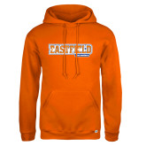 Russell DriPower Orange Fleece Hoodie-Athletic Wordmark