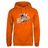 Russell DriPower Orange Fleece Hoodie-Eastfield Wave