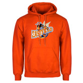 Orange Fleece Hoodie-Eastfield Wave