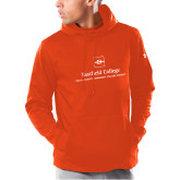 Under Armour Orange Armour Fleece Hoodie-Primary Mark