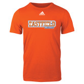 Adidas Orange Logo T Shirt-Athletic Wordmark
