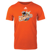 Adidas Orange Logo T Shirt-Eastfield Wave