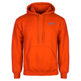 Orange Fleece Hoodie-Athletic Wordmark