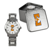 Mens Stainless Steel Fashion Watch-Athletic Wordmark
