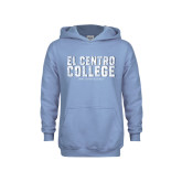 Youth Light Blue Fleece Hoodie-Arched