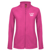 Ladies Fleece Full Zip Raspberry Jacket-El Centro College Est. 1966