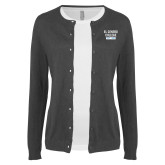 Ladies Charcoal Cardigan-El Centro College Est. 1966