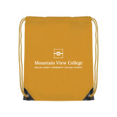 Gold Drawstring Backpack-Primary Mark