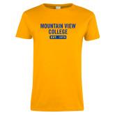 Ladies Gold T Shirt-Mountain View College Est 1970