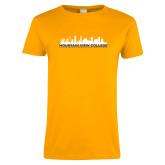Ladies Gold T Shirt-Skyline