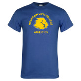Royal T Shirt-Mountain View College Athletics Arched