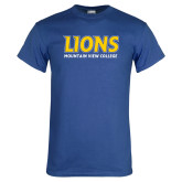 Royal T Shirt-Lions Mountain View College Stocked