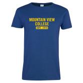 Ladies Royal T Shirt-Mountain View College Est 1970