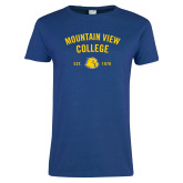 Ladies Royal T Shirt-Mountain View Lions Arched