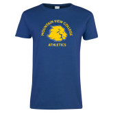 Ladies Royal T Shirt-Mountain View College Athletics Arched