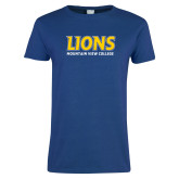 Ladies Royal T Shirt-Lions Mountain View College Stocked