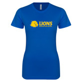 Next Level Ladies SoftStyle Junior Fitted Royal Tee-Lions w/ Lion Head