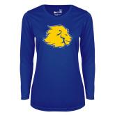 Ladies Syntrel Performance Royal Longsleeve Shirt-Lion Head