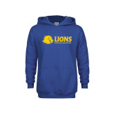 Youth Royal Fleece Hoodie-Lions w/ Lion Head