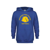 Youth Royal Fleece Hoodie-Softball